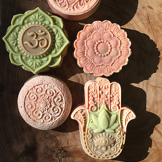 natural individual molds handmade cp soap