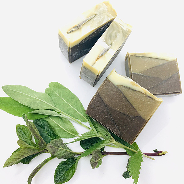 cold process soap with nettles