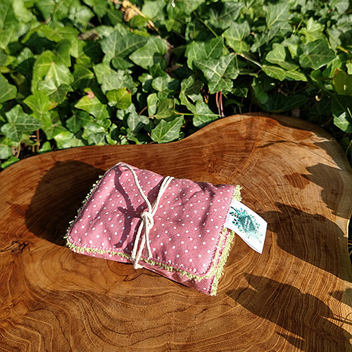 handmade artisan natural cotton soap wrap wash cloth travel pouch
