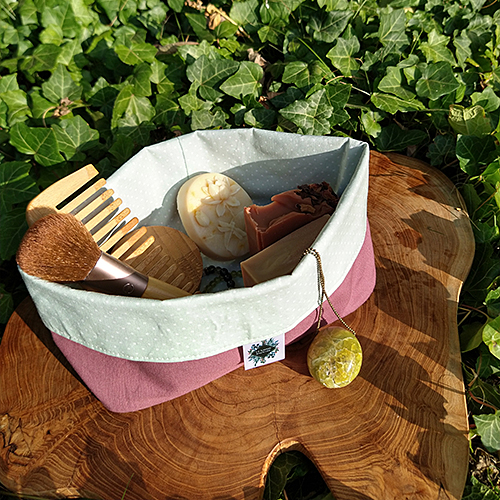 oeko-tex certified cotton zero waste branded bath basket