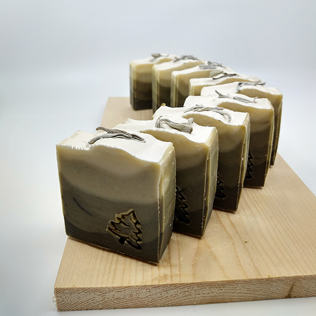 natural nettle green winter Christmas soap