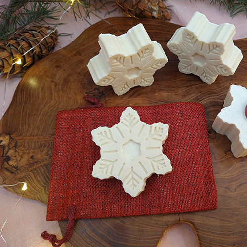 snowflake soap winter sparkling joy le savon sauvage